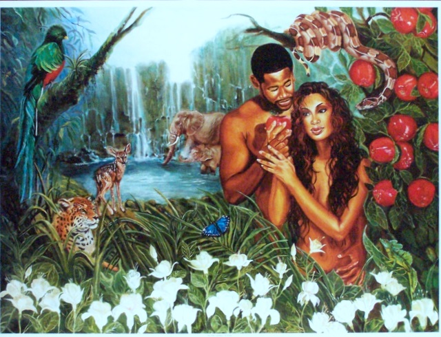 compare the iroquois creation story with judeo christian version with adam and eve Adam and eve they ate from the tree of knowledge and were punished victor got the knowledge to create man, an awful man, and was punished by the fact that the monster wasawful.